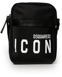 DSquared² Icon Zwart Crossbody Tas