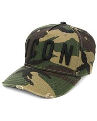 DSquared² Icon Groen Camo Baseball Cap