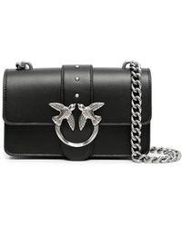 Pinko Love Mini Icon Simply 9 Crossbody Bag - Black
