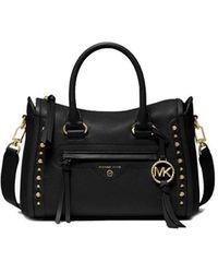 Michael Kors Carine Handbag With Studs - Black