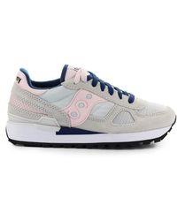 Saucony Shadow Original Roze Marineblauwe Sneaker - Grijs