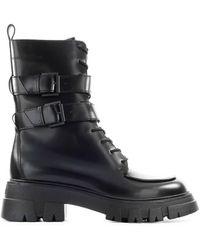 Ash Lars Black Combat Boot