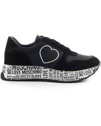 Love Moschino Zwarte Sneaker Met Hart
