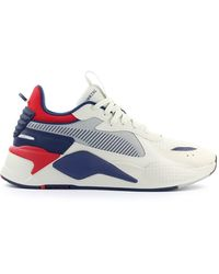 PUMA Rs-x Hard Drive White Navy Blue Red Trainer