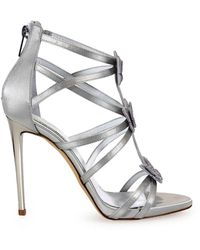 Ninalilou Swarowski Butterflies Grey Gehakt Sandal - Grijs