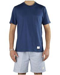 Department 5 Martin Marinet-shirt Met Zak - Blauw