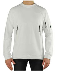 C.P. Company Diagonal Raised Fleece Sweatshirt - Wit