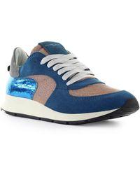 Philippe Model Montecarlo Glitter Mix Lilac Sneaker - Blauw