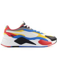 PUMA Rs-x3 Puzzle Wit Geel Sneaker - Blauw