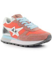 Sun68 Ally Star Basic Coral Zilver Sneaker - Oranje