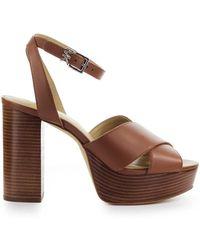 Michael Kors Odette Light Brown Sandal