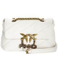 Pinko Love Mini Puff Jewel Witte Crossbody Bag