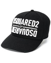 DSquared² 25 Zwart Dubbel Logo Baseballcap