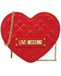 Love Moschino HERZ QUILTED ROTE UMHÄNGETASCHE