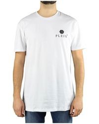 Philipp Plein Ss Iconic Plein Witte Logo T-shirt
