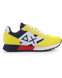 Sun68 Jaki Bicolor Sneaker - Geel