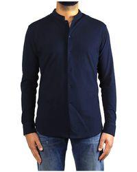 Paolo Pecora Camicia Cotone Blu Navy - Blue