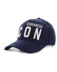 DSquared² GORRA DE BASEBALL ICON MARINO BLANCO - Azul