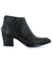 Lemarè Lemaré Black Leather Texan Style Boots With Studs