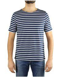 Saint James T-shirt levant modern blu navy bianco - Azul