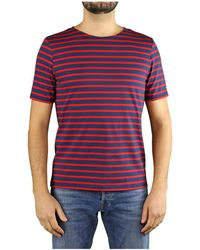 Saint James - Levant Modern Marineblauw Rood T-shirt - Lyst