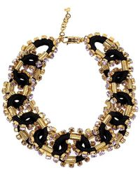 DSquared² Crystalized Cable Goud Necklace - Zwart