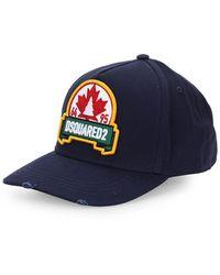 DSquared² Blad Marineblauwe Baseball Cap - Wit
