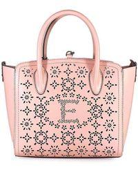 Ermanno Scervino Clio Small Roze Perforated Shopper