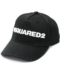 DSquared² Cappello Baseball Nero Bianco - Zwart
