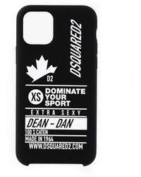 DSquared² Dominate D2 Iphone 11 Pro Hoesje - Zwart