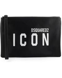 DSquared² Be Icon Wit Clucth - Zwart