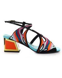 Kat Maconie Dory Zwart Veelkleurige Sandaal - Blauw