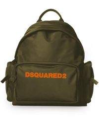 DSquared² Militair Groen Oranje Nylon Rugzak