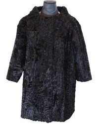 FRAME Black Astrakhan Coat
