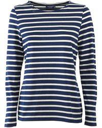 Saint James Minquidame Blue Ecru Long Sleeve Shirt