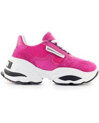 DSquared² The Giant Hike Fuhsia Wit Sneaker - Roze
