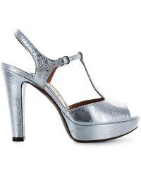 L'Autre Chose Sandalo Platform Argento - Metallizzato