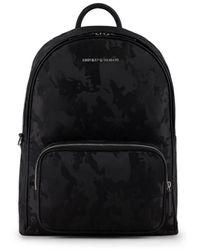 Emporio Armani Camouflage Black Backpack