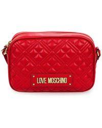 Love Moschino Quilted Nappa Rode Medium Crossbodytas - Rood