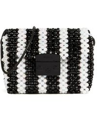 Furla Metropolis Mini Pearls Wit Crossbody Tas - Zwart