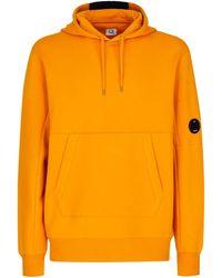 C.P. Company DIAGONAL RAISED HOODIE - Orange