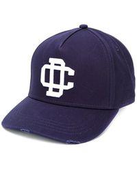 DSquared² Cargo Marineblauw Baseball Cap Met Wit Logo
