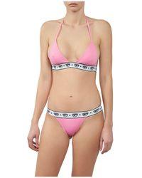 Chiara Ferragni Logomania Roze Bikini