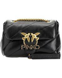 Pinko Love Mini Puff Jewel Black Crossbody Bag