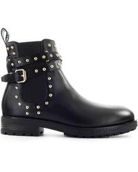 Love Moschino Zwart Studs Chelsea Boot