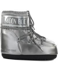 Moon Boot Classic Low Glance Zilveren Sneeuwlaars - Metallic