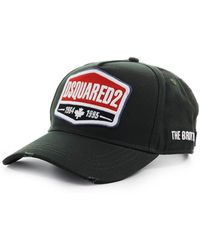 DSquared² Logo Patch Donkergroen Baseball Cap