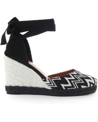 Castaner By Missoni Carina Black And White Wedge Espadrilles