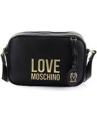 Love Moschino Zwarte Medium Schoudertas Met Logo