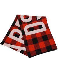 DSquared² Buffalo Lumberjack Black Red Scarf